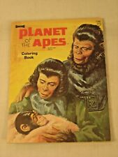 1974 Planet Of The Apes Coloring Book Authorized Edition 3 Pages Colored