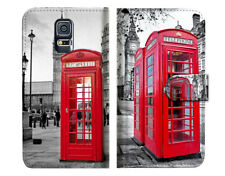 British phone Booth Wallet Case Cover For Samsung Galaxy S5 - A025