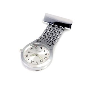 Unisex Wide Band Silver Nurses Watch with Date Function Graduation Pack