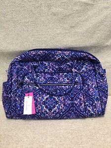 NWT Vera Bradley Iconic Weekender Travel Bag in Regal Rosette