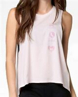 FOX Racing Women's Pink Shout Casual Printed Crew Tank Top Graphic Tee T-Shirt