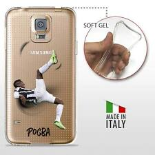 Samsung Galaxy S5 COVER PROTETTIVA GEL TRASPARENTE Calcio Soccer Paul Pogba