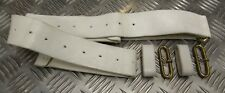 Genuine Britsih Military No8 White Buff Leather Parade Waist Belt Without Buckle