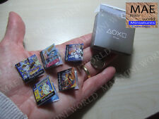 Miniature Box. PSone and 5 games.1:6 Scale. Playstation. CAN