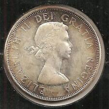 1962 CHOICE BU Canadian Half Dollar #1 (toned)
