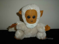 Dakin Monkey White Wool Felt Face Vintage 1976 Stuffed Ground Nutshells Rare