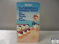 The Unsinkable Donald Duck with Huey, Dewey And Louie VHS Walt Disney Home Video