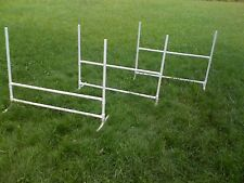 3 Dog Training Jumps Agility Obedience Flyball Fun!