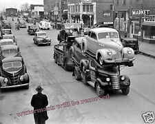 Photograph of  United Car Transport Truck Eufaula, Oklahoma Yera 1940 8x10