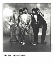 The Rolling Stones - 8 x10 B&W  Record Company Publicity Photo 1989