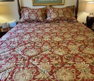 3 Pc VTG Ralph Lauren Cotton Sateen JARDINIERE Full/ Queen Comforter & Shams