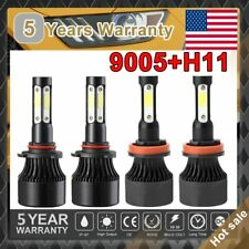 4-Sides Cree LED Headlight High Low Beam H11 9005 for Toyota Camry Tundra Sienna
