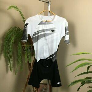 ZEROD TT SUIT BLACK/WHITE For cyclists. Or triathlon participants M