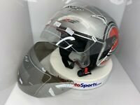Adult AVE Motorcycle Helmet 3/4 Open Face with Shield (+replacement) DOT