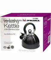 Whistling Kettle PRIMA Stainless Steel 2.5 Ltr Phenolic Handle Kitchenware Tea