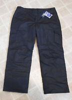 NEW Faded Glory Mens Black XL 40/42 Snow Board Ski Pants Winter Water Resistant