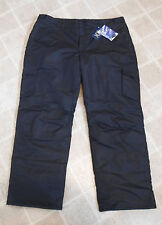 NEW Faded Glory Mens Black M 32/34 Snow Board Ski Pants Winter Water Resistant