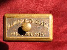 Antique Bronze OR Brass Alburger, Stoer $ Co. Philadelphia Paperweight
