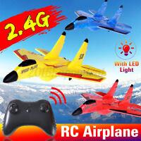 RC Airplane Radio Remote Control 2.4G EPP Foam Airplane Plane Gliders LED Lights