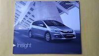 Honda Insight HE HS HX Hybrid paper brochure sales catalogue January 2013 MINT