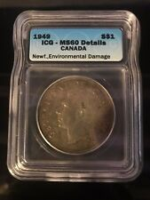 1949 Canadian $1 Coin MS60 (C279)