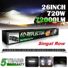 "26inch Led Light Bar Singal Row 720W FOR Combo Work Jeep Wrangler JK Lamp VS 24"""