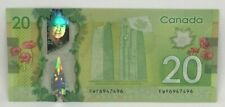 Canadian 2012 $20 Radar Note Frontiers issue Serial # FWF6947496