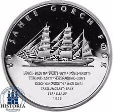 Deutschland 10 Euro Gorch Fock II 2008 Silber-Gedenk-Münze Spiegelglanz