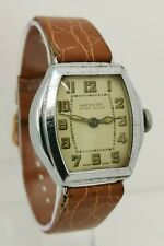 Vintage 1920s Inventic Sport Lever Art Deco Mechanical Gents Watch Swiss Made