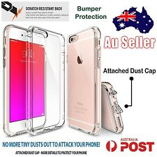 iPhone 6s 6 Hybrid Soft Slim Case Bumper Protective Crystal Clear Cover Apple