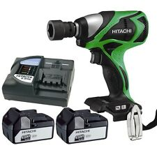 Hitachi 18V  Impact Wrench  12.7mm Square Drive 2 x  Li-Ion  Bat WR18DBDL(HW)