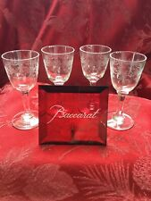 FLAWLESS Stunning BACCARAT France SEVIGNE Crystal 4 CORDIAL LIQUEUR SHOT GLASSES