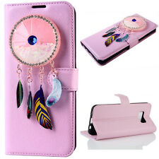 (Pink)Wind chimes Quicksand Flip Wallet Case Cover For Samsung Galaxy Model