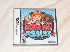 NEW Brain Assist Nintendo DS Game FACTORY SEALED Sega mini-games for the brain