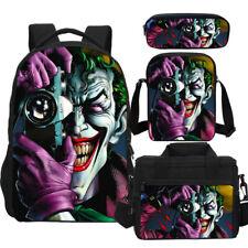 The Joker Boys Backpack Insulated Lunch Bag Crossbody Bag Pencil Bag Gift Lot