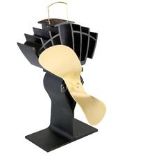 CAFRAMO ULTRA-AIR 810 BLACK/GOLD ECO-FAN WOOD BURNING STOVE HEAT POWERED FAN