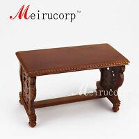 Fine 1/12 scale dollhouse miniature furniture Luxuriant Hand carved desk