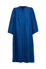 Coro Bata Azul Vestido Mujer Hombre Sacerdote Preachers Iglesia Plano Pliegue