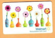 Collectible Walmart Gift Card - Flowers in Vases - No Cash Value - FD40736