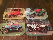 Vintage/ Retro Classic Cars Desing Kitsch Set of four Place Mat/ Corks Back