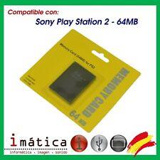 MEMORY CARD 64 MB PARA SONY PLAY STATION 2 PS2 TARJETA DE MEMORIA EXPANSION PS 2