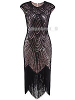 Costume Womens Gatsby 20s Party Prom Evening Dress Plus Size 1920s Flapper Dress