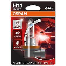 OSRAM Night Breaker Unlimited Plus 110% More Light H11 Headlight Bulb (Single)