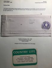 1952 London England Parcel Label Stationery Cover To Columbus Oh Usa