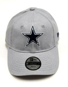 Dallas Cowboys Cap Youth Sized New Era Core Classic Adjustable Hat Gray