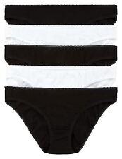 EX M&S Marks & Spencer Ladies Womens 3Pk Pure Cotton Bikini Knickers (2 Colours)