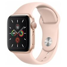 Apple Watch Series 5 (40mm) Alu 32GB GPS (MWV72LL/A) Sportarmband rosa/gold WOW!
