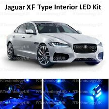 BLUE PREMIUM JAGUAR XF XFR 2008-2015 LED INTERIOR UPGRADE KIT SET XENON