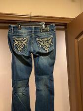 Miss Me Rhinestone Boot Cut Jeans Size 29