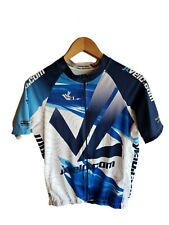 JL Velo Mens Cycling Racing Short Sleeve Team Stripe Jersey Full Zip Size Medium